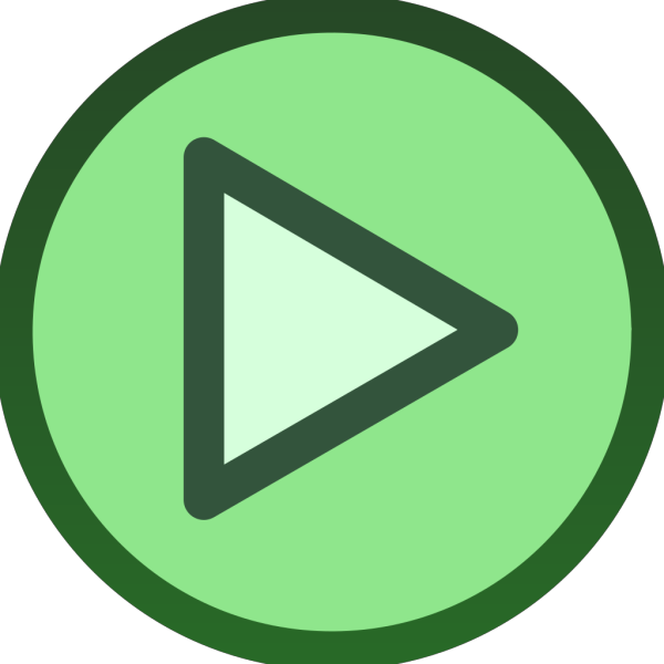 Green Plain Play Button Icon  PNG Clip art