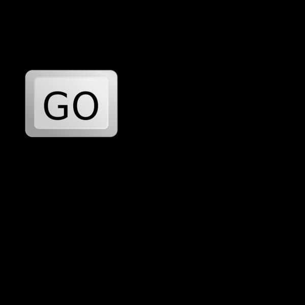 Go Button Keyboard PNG Clip art