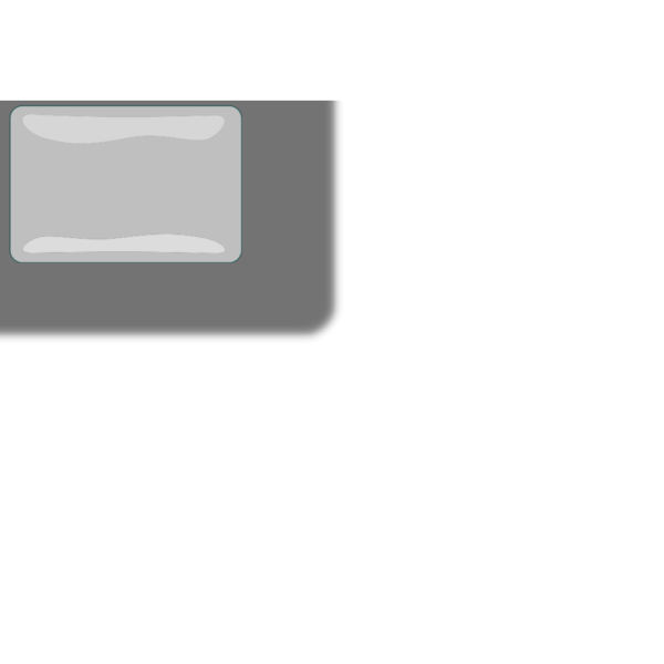 White Glossy Rectangle Button PNG Clip art