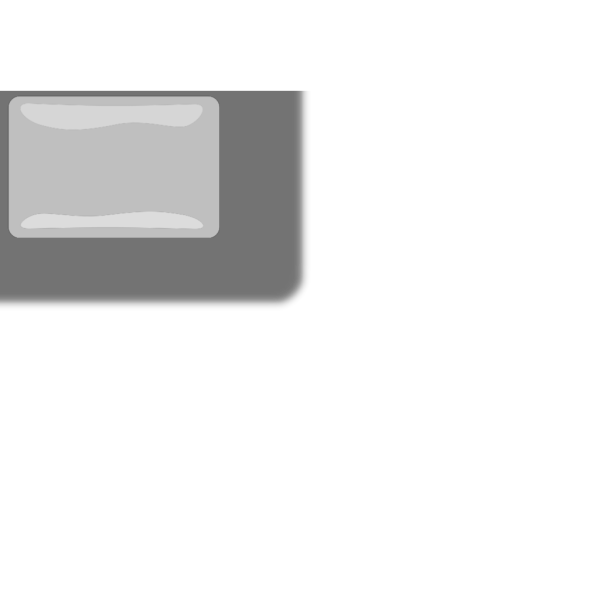 Whitey Glossy Rectangle Button PNG Clip art