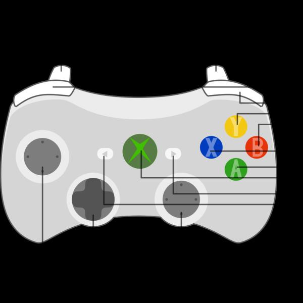 Xbox 360 Controller Diagram PNG Clip art