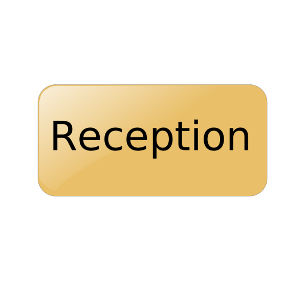 Reception Gold Button PNG icon