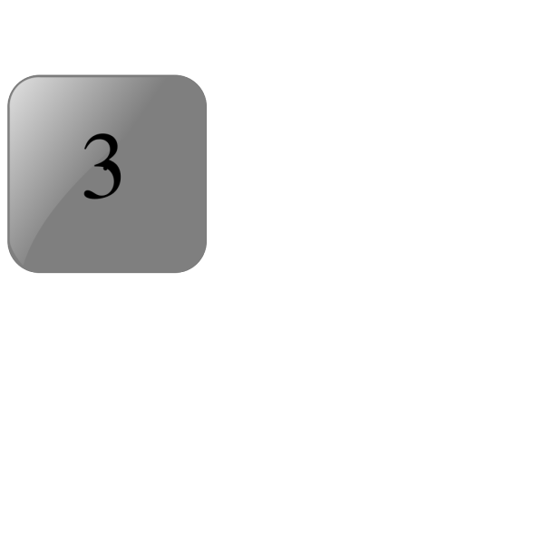 3 Blank Black Button PNG Clip art
