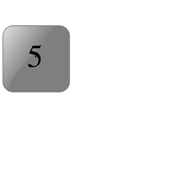5 Blank Black Button PNG Clip art