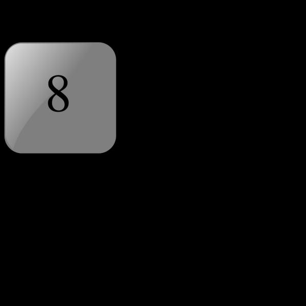 8 Blank Black Button PNG Clip art