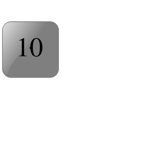 10 Blank Black Button PNG Clip art