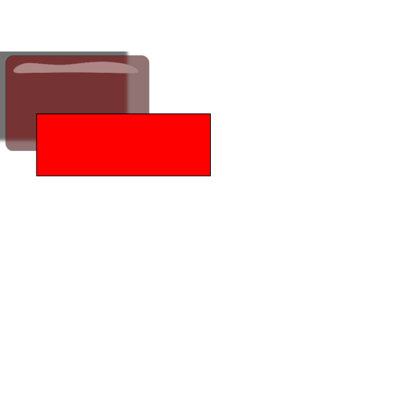Red Rectangle Blank Button PNG Clip art