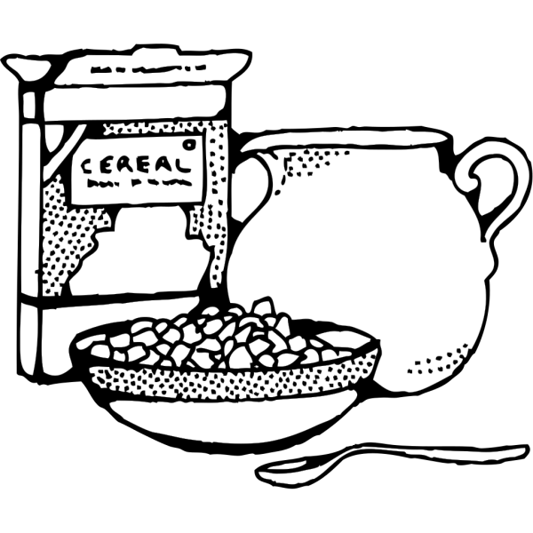 Cereal Box And Milk PNG Clip art