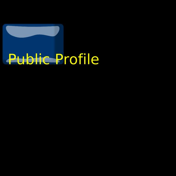 Public Profile Button PNG Clip art