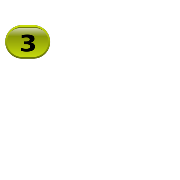 Button For Numbers 3 PNG Clip art
