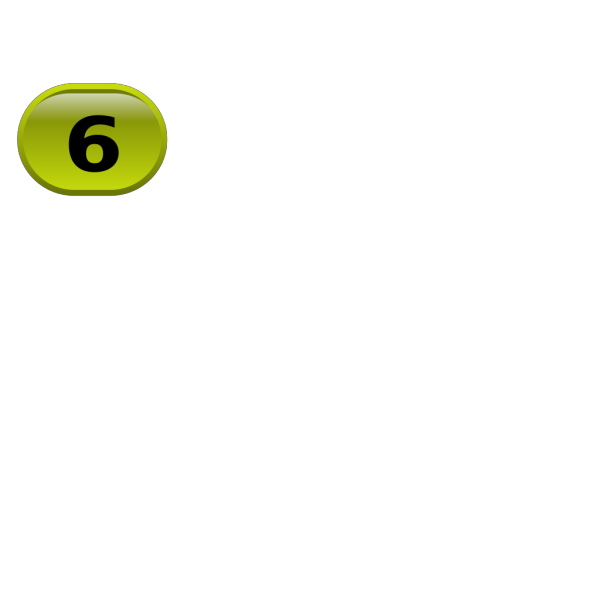 Button For Numbers 6 PNG Clip art