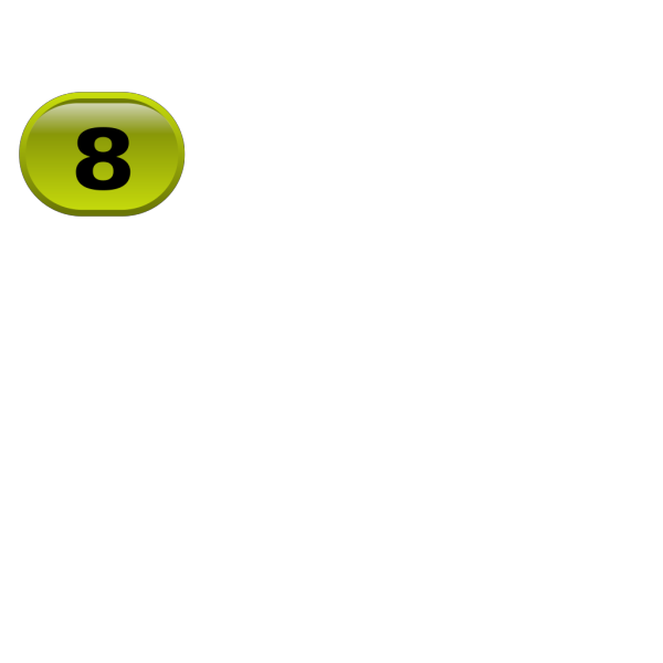 Button For Numbers 8 Clip art