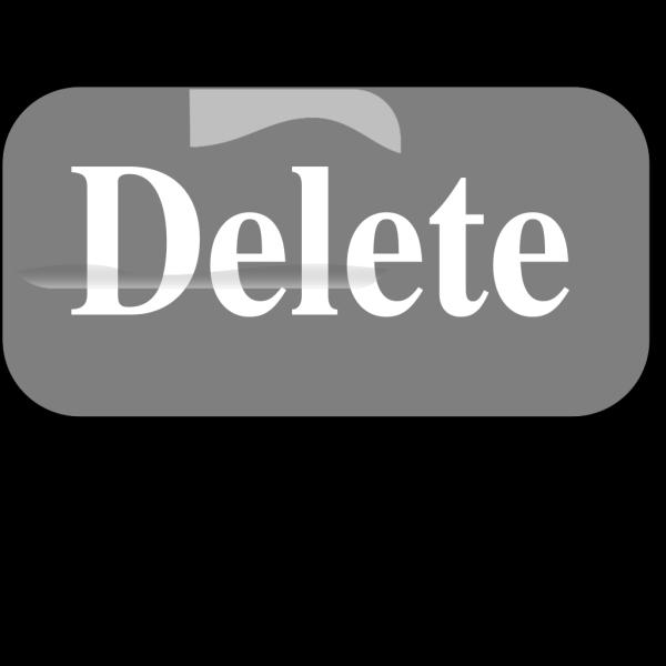 Delete Button Blue PNG Clip art
