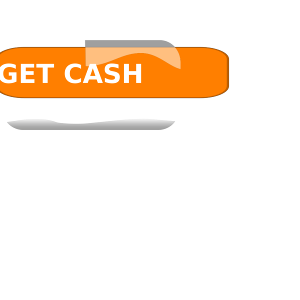 Orange Cash Button PNG Clip art