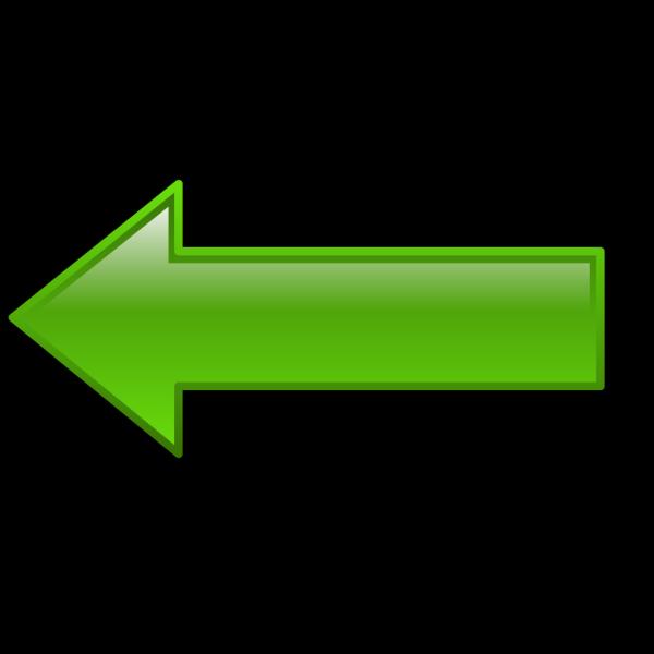 Left Green Arrow PNG Clip art