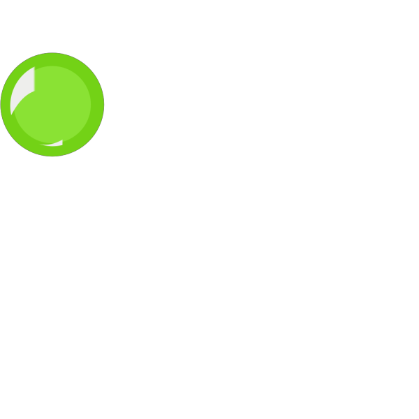 Empty Green Round Button PNG icon