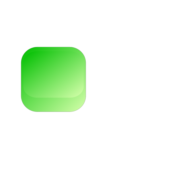 Green Square Button PNG Clip art
