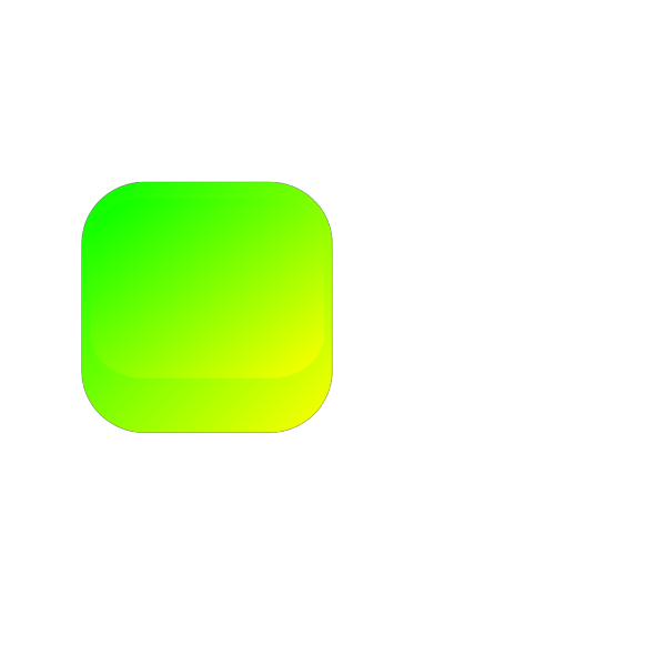 Green Yellow Square Button PNG Clip art