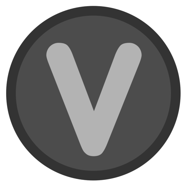 V Button PNG icon