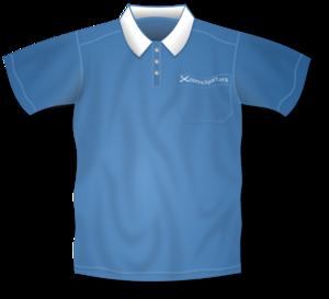 Blue Collared Short Sleeve Shirt PNG Clip art