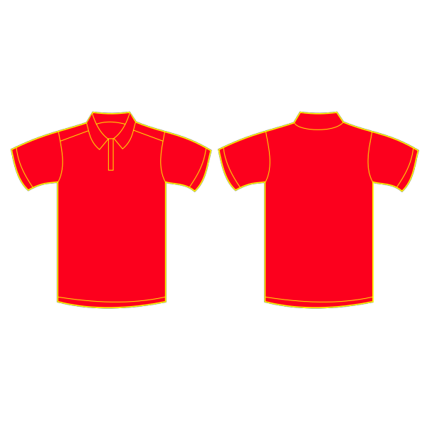Red Polo Shirt PNG Clip art
