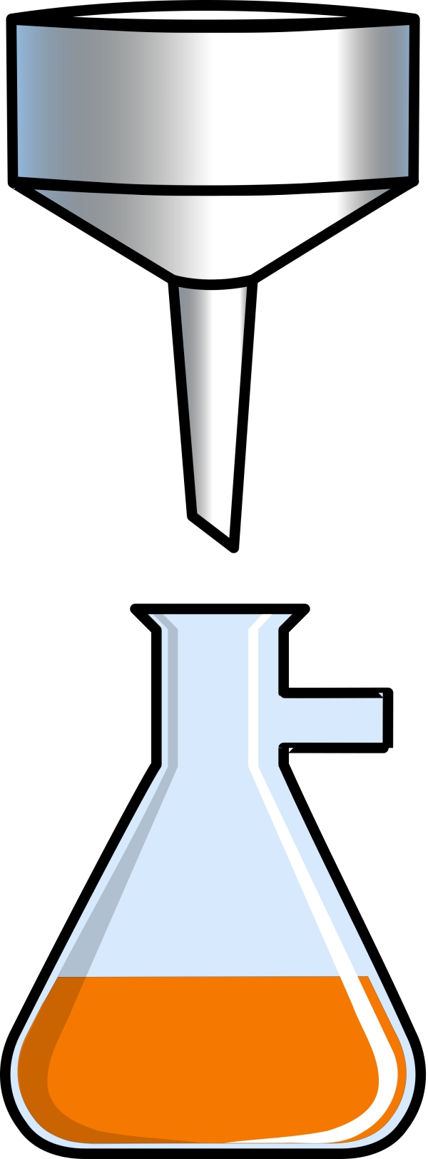 Empty Flask PNG clipart