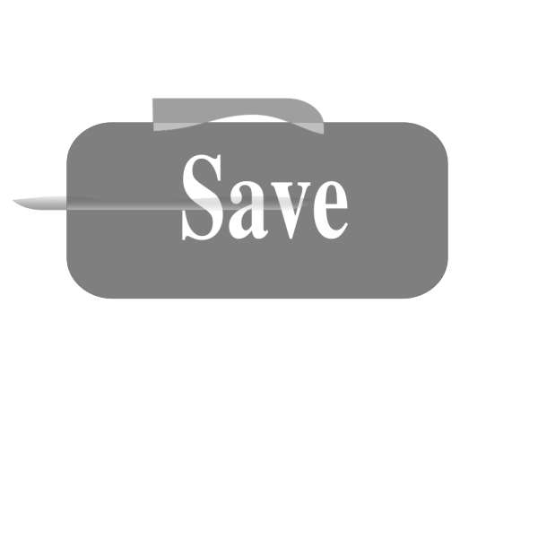 Grey Save Button PNG Clip art