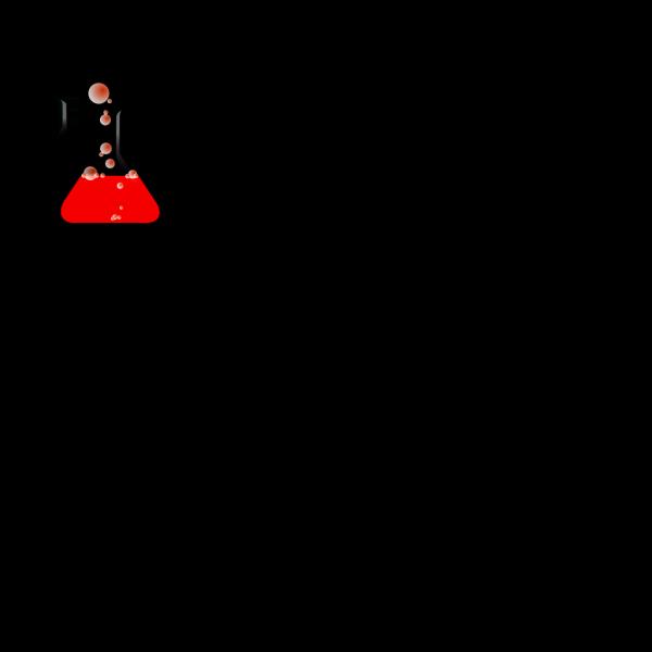Redflask/bubbles PNG Clip art