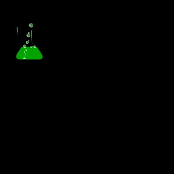 Greenflask/bubbles PNG Clip art