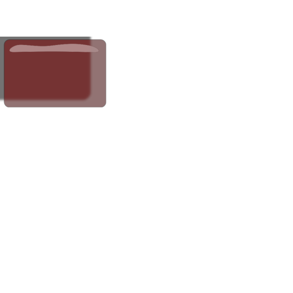 Red Rectangle Glossy Button PNG Clip art