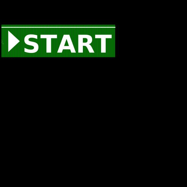 Start Green Button PNG Clip art