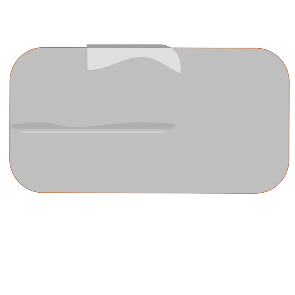 Grey Rectangular Button PNG Clip art