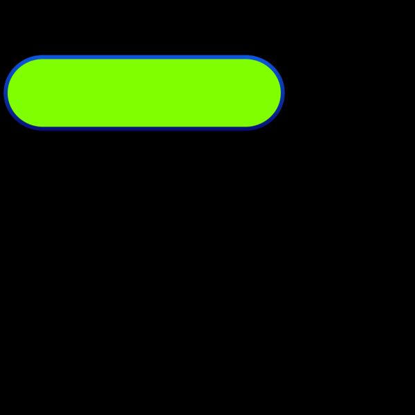 Light Green Oval Button, Blue Border PNG Clip art