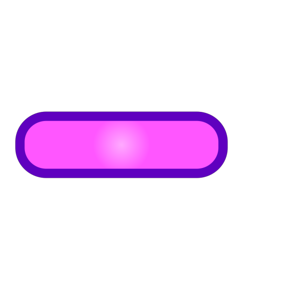 Pink Rounded Rectangle Button, Purple Border PNG Clip art