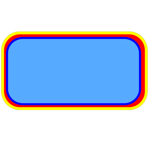 4 Color Rounded Rectangle Button PNG Clip art