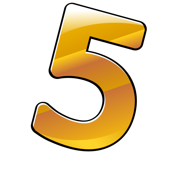 Number 6 Button PNG Clip art
