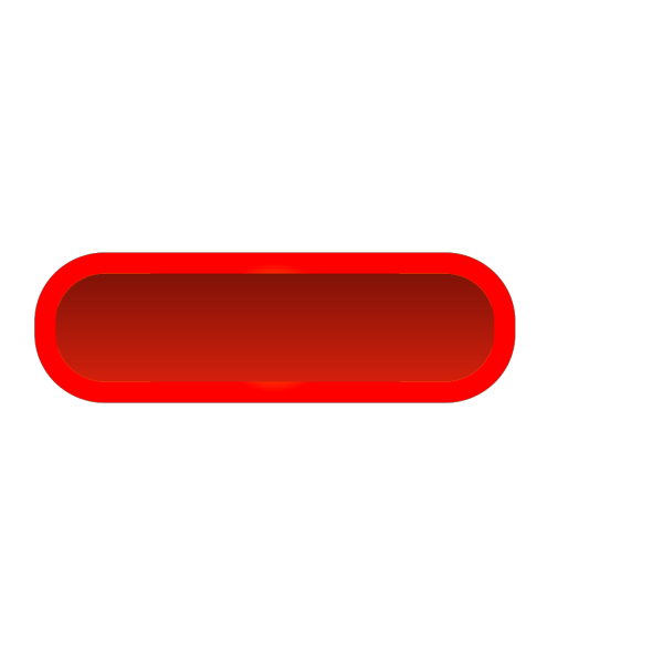 Red Rounded Rectangle Button, Yellow Border PNG Clip art