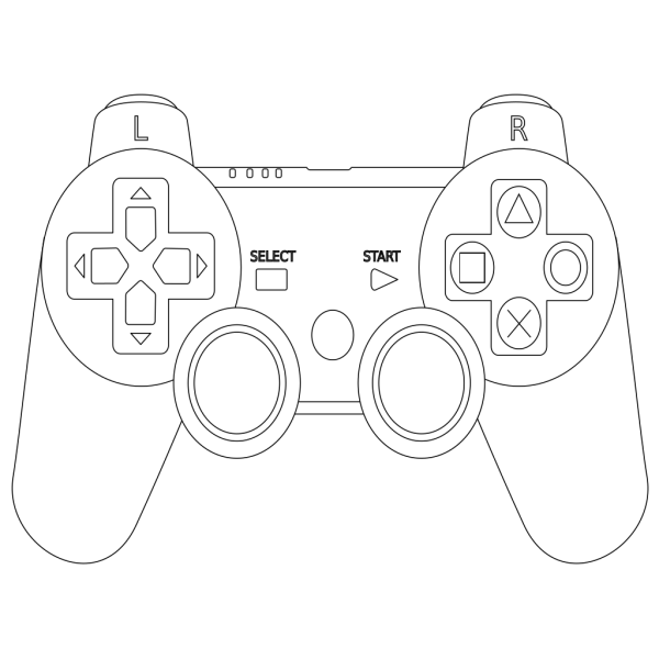 Game Controller Outline PNG Clip art