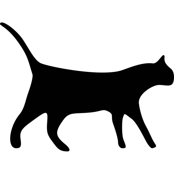 Cat Silhouette PNG Clip art