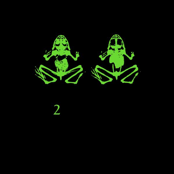 2 Dead Frogs PNG Clip art