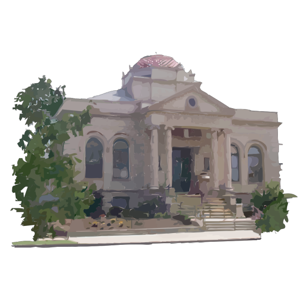 Carnegie Library Building PNG Clip art