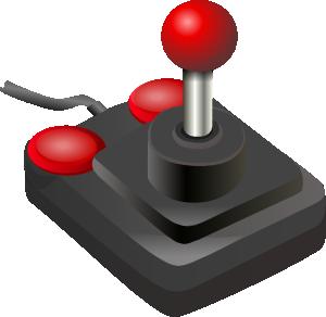 Joystick Black Red PNG Clip art