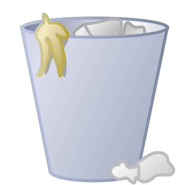 Full Trash Can PNG Clip art