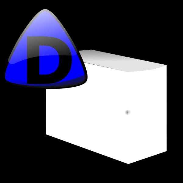 Server Small Case Icon Blue PNG Clip art