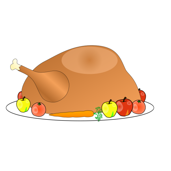 Turkey Platter 01 With Fruit And Vegitables PNG Clip art