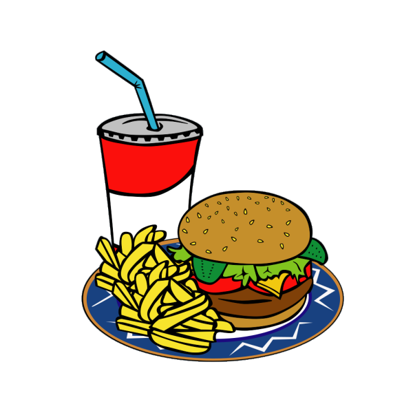 Fries Burger Soda Fast Food PNG Clip art