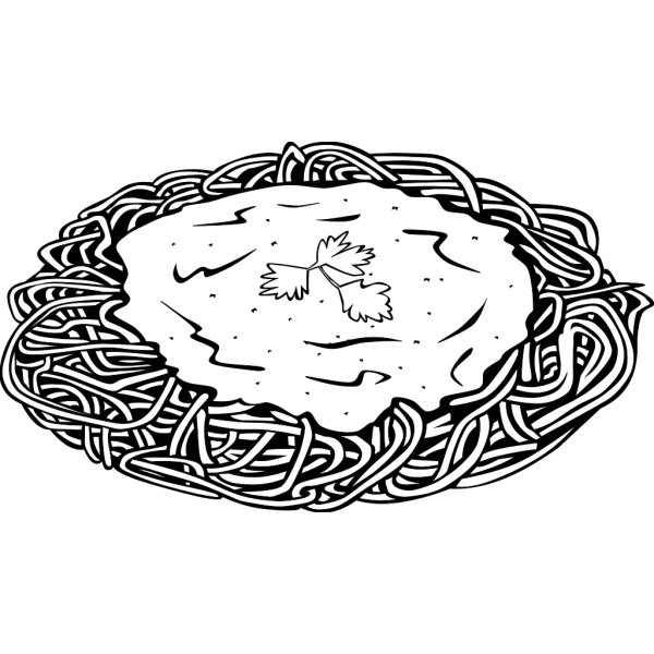 Spaghetti And Sauce 2 PNG Clip art
