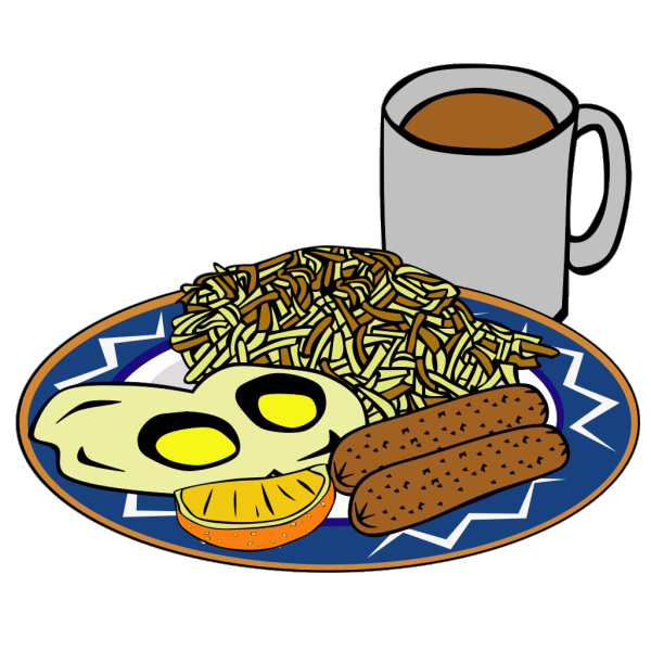 Eggs Sausage Drink Coffee PNG images