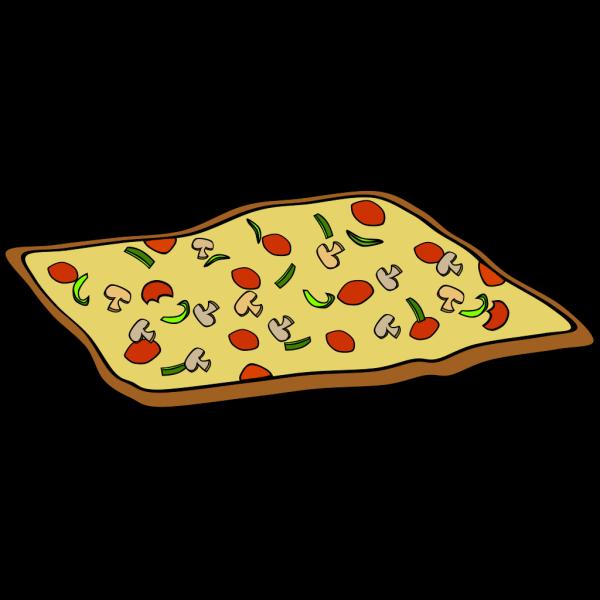 Rectangular Veggie Pizza PNG Clip art