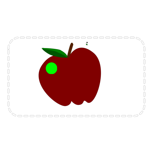 Apple With Worm PNG clipart
